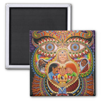 The God of Healing  2 Inch Square Magnet
