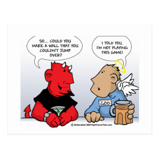The God Puzzle Postcard