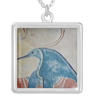 The god Thoth Silver Plated Necklace
