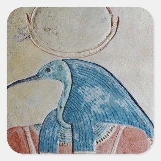 The god Thoth Square Sticker
