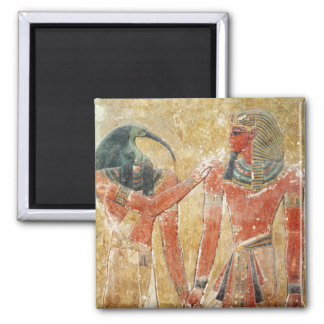 The god Thoth with Seti I  in the Tomb of Seti Magnet