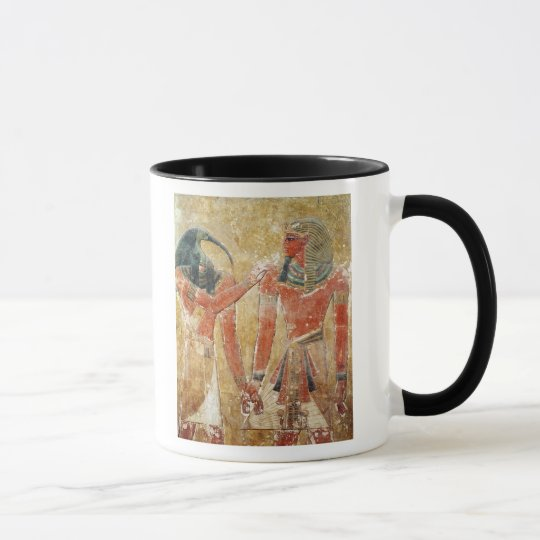 The god Thoth with Seti I  in the Tomb of Seti Mug