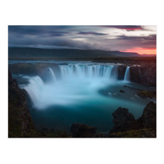 The Goðafoss Waterfall in Iceland Postcard
