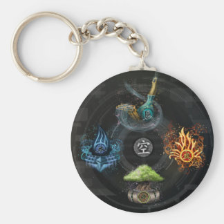 The Godai five elements kanji art illustration Keychain
