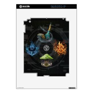 The Godai five elements kanji art illustration Skin For iPad 2