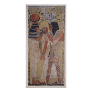 The Goddess Hathor placing the magic collar Poster