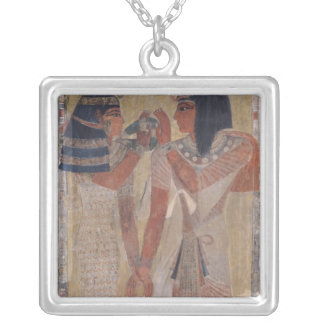 The Goddess Hathor placing the magic collar Silver Plated Necklace