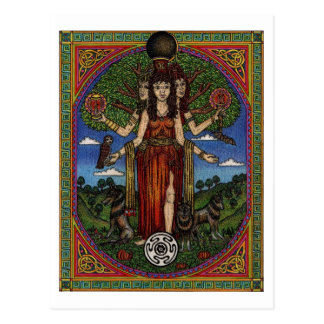 the goddess hecate (image and synbols) 001 t, gift postcard