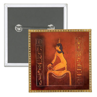 The Goddess Isis 2 Inch Square Button
