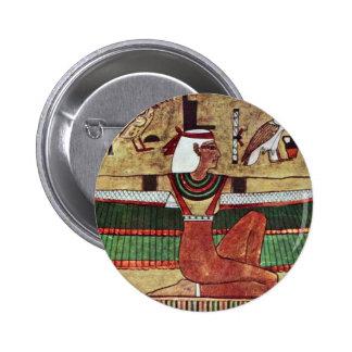 The Goddess Isis,  By Ägyptischer Maler Um 1360 2 Inch Round Button