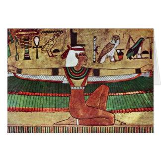 The Goddess Isis,  By Ägyptischer Maler Um 1360 Card