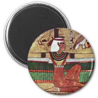 The Goddess Isis,  By Ägyptischer Maler Um 1360 2 Inch Round Magnet