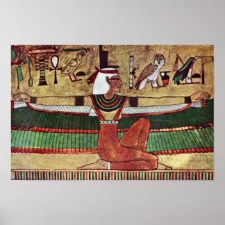 The Goddess Isis,  By Ägyptischer Maler Um 1360 Poster