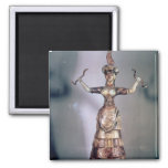 The Goddess of the Serpents Refrigerator Magnet