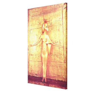 The goddess Selket on the canopic shrine Canvas Print
