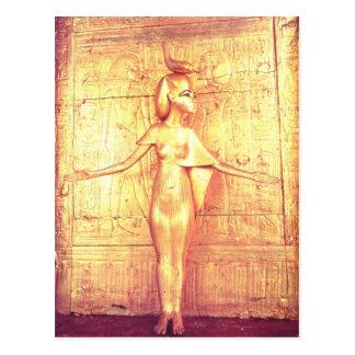 The goddess Selket on the canopic shrine Postcard