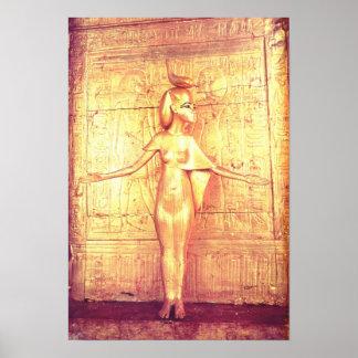 The goddess Selket on the canopic shrine Print