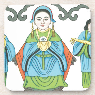 The Goddess that cures eye diseases Beverage Coaster