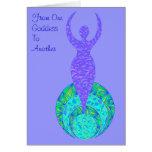 The Goddess You Amaze Me Greeting Card