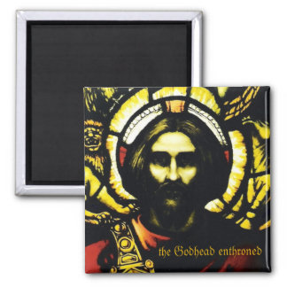 the Godhead enthroned 2 Inch Square Magnet