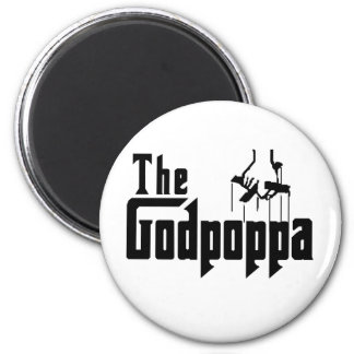 The Godpoppa Fun Father's Day Apparel Magnet