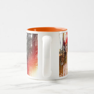 The Gods of Forest Two-Tone Coffee Mug