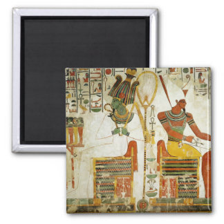 The Gods Osiris and Atum, from Tomb of 2 Inch Square Magnet