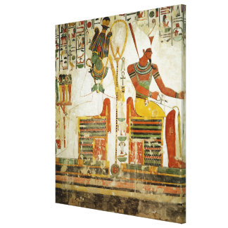 The Gods Osiris and Atum, from Tomb of Canvas Print