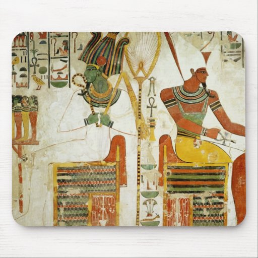 The Gods Osiris and Atum, from Tomb of Mouse Pad