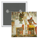 The Gods Osiris and Atum, from Tomb of Pinback Button