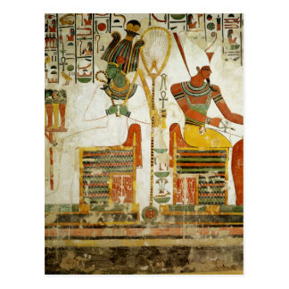 The Gods Osiris and Atum, from Tomb of Postcard