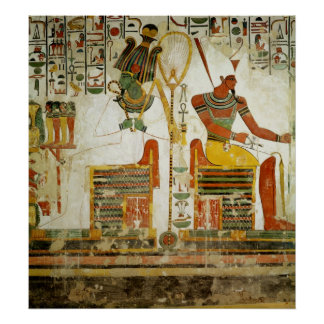 The Gods Osiris and Atum, from Tomb of Poster