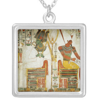 The Gods Osiris and Atum, from Tomb of Silver Plated Necklace