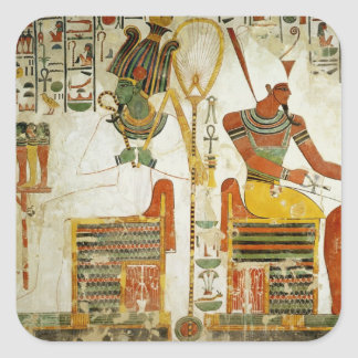 The Gods Osiris and Atum, from Tomb of Square Sticker
