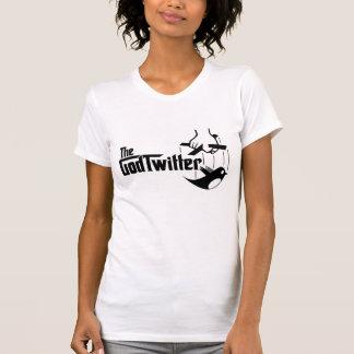 The GodTwitter - Ladies, White Tee Shirts