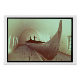 The Gokstad longship (wood) Poster