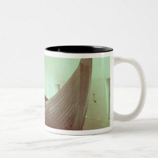 The Gokstad longship (wood) Two-Tone Coffee Mug