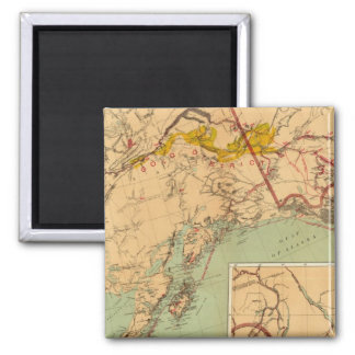 The Gold and Coal Fields of Alaska 2 Inch Square Magnet
