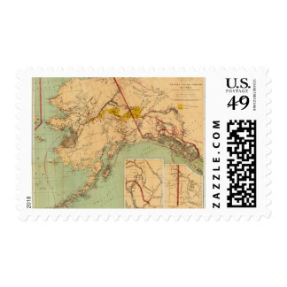 The Gold and Coal Fields of Alaska Postage