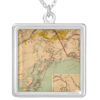 The Gold and Coal Fields of Alaska Silver Plated Necklace