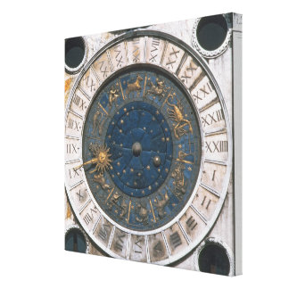 The gold and enamel clock face, design begun by Ma Canvas Print