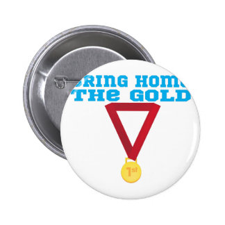 The Gold 2 Inch Round Button