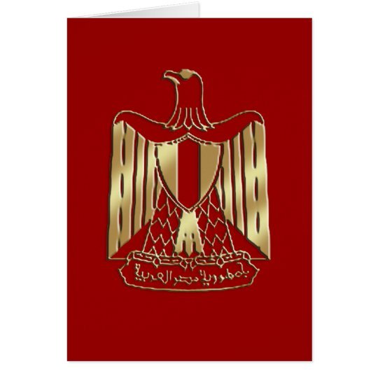 The gold Eagle of Egypt - Egyptian pride Card