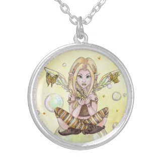"""The Gold Fairy"" cute fantasy art NECKLACE"