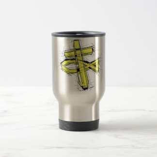 The Gold Fish and The Cross. Travel Mug