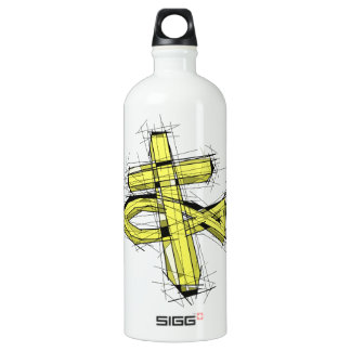 The Gold Fish and The Cross. Water Bottle