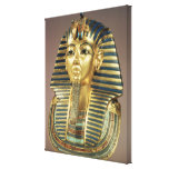 The gold funerary mask, from tomb of gallery wrap canvas