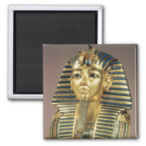 The gold funerary mask, from tomb of fridge magnet