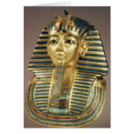 The gold funerary mask, from tomb of greeting card
