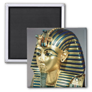 The gold funerary mask, from tomb of Tutankhamun 2 Inch Square Magnet